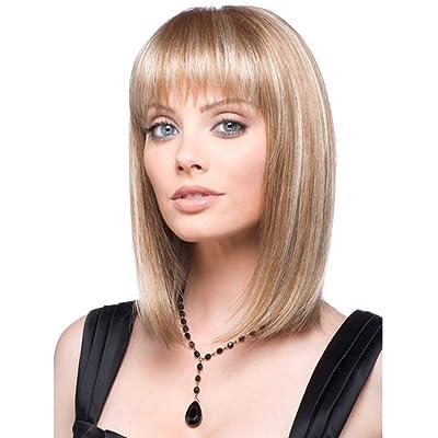 ACE Fashion Sexy Long Straight Human Hair Wigs For Women Elegant Neat Bang Classic Hair Wig