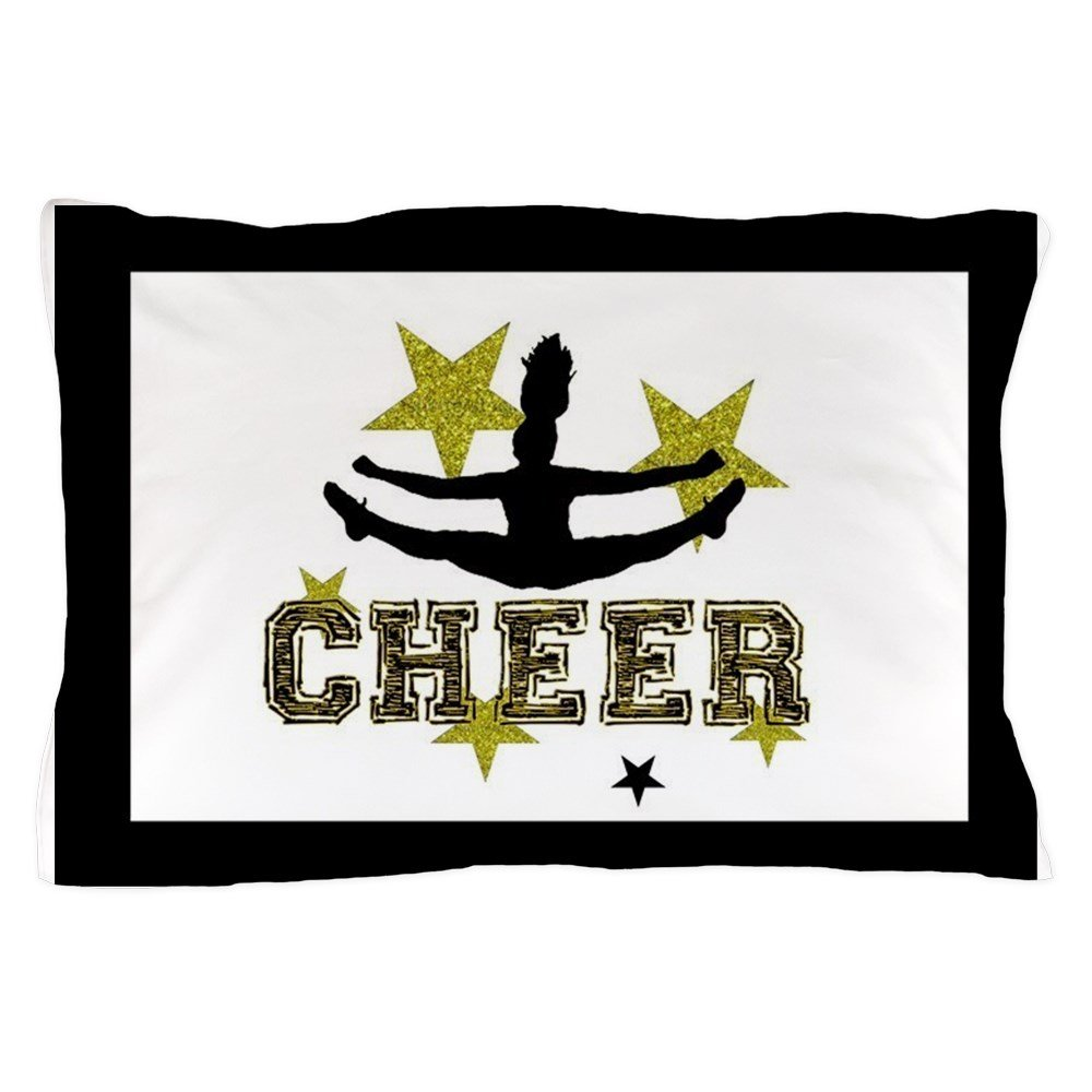 CafePress - Black And Gold Cheerleader - Standard Size Pillow Case, 20''x30'' Pillow Cover, Unique Pillow Slip