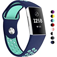 Tersely Watch Band Strap for Fitbit Charge 3, Classic Soft TPU Silicone Adjustable Replacement Bands Fitness Sport Bracelet Fitbit Charge 3/3 SE Smart Tracker Band Strap