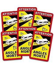 Obs! Angles Morts klistermärke 25 x 17 cm för fordon, obligatoriskt från 3,5 t i Frankrike, varningsklistermärke för död vinkel, självhäftande, uv-resistent väderbeständigt R144 (buss,1 styck)
