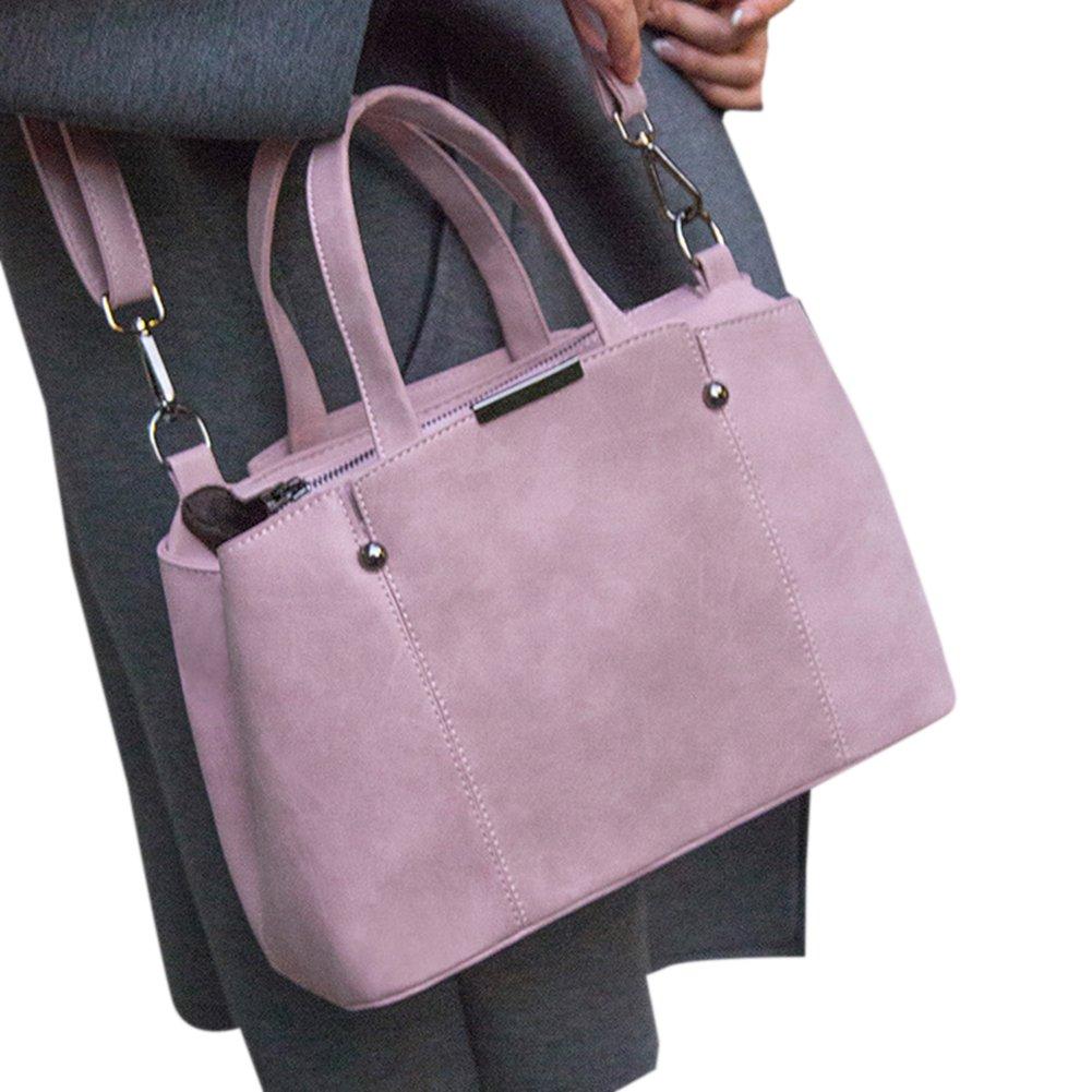 ThinkMax Simple Stylish Top Handle Bag Elegant Large Capacity Scrub Handbags Fashion Women Soft Leather Work Tote