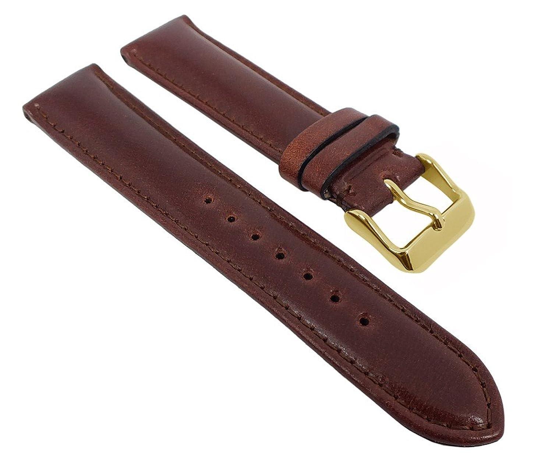 Graf Manufaktur Appaloosa Uhrenarmband Cordovan Leder Braun mit Naht 731.1.21 - 27267 - Stegbreite:18mm - Schließe