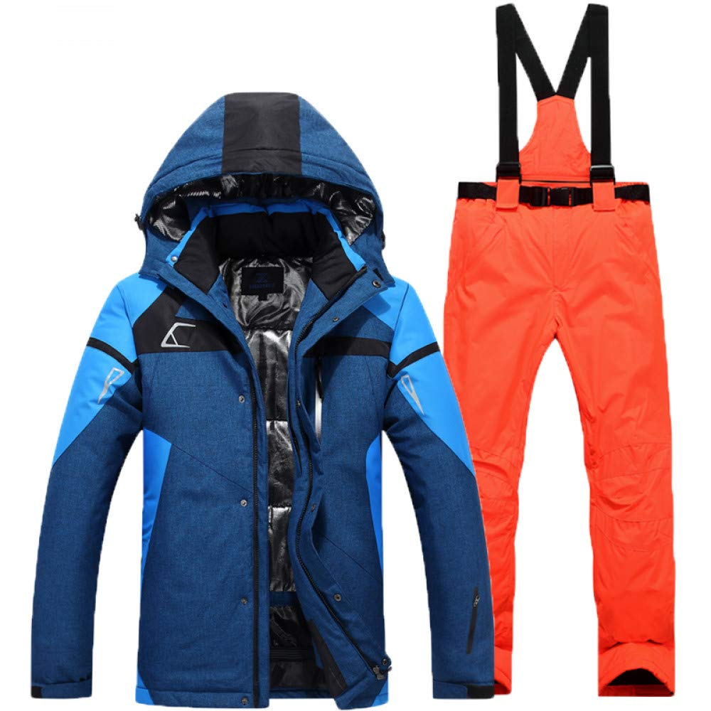 ZXGJHXF Giacca da Sci da Uomo  Pant Antivento Antivento Antivento Impermeabile Outdoor Sport Wear Super Warm Snowboard Suit Addensare Sport all'Aria Aperta Suit Set,Coloree15,LB07KZHW8C1XXL Coloree 18 | Premio pazzesco, Birmingham
