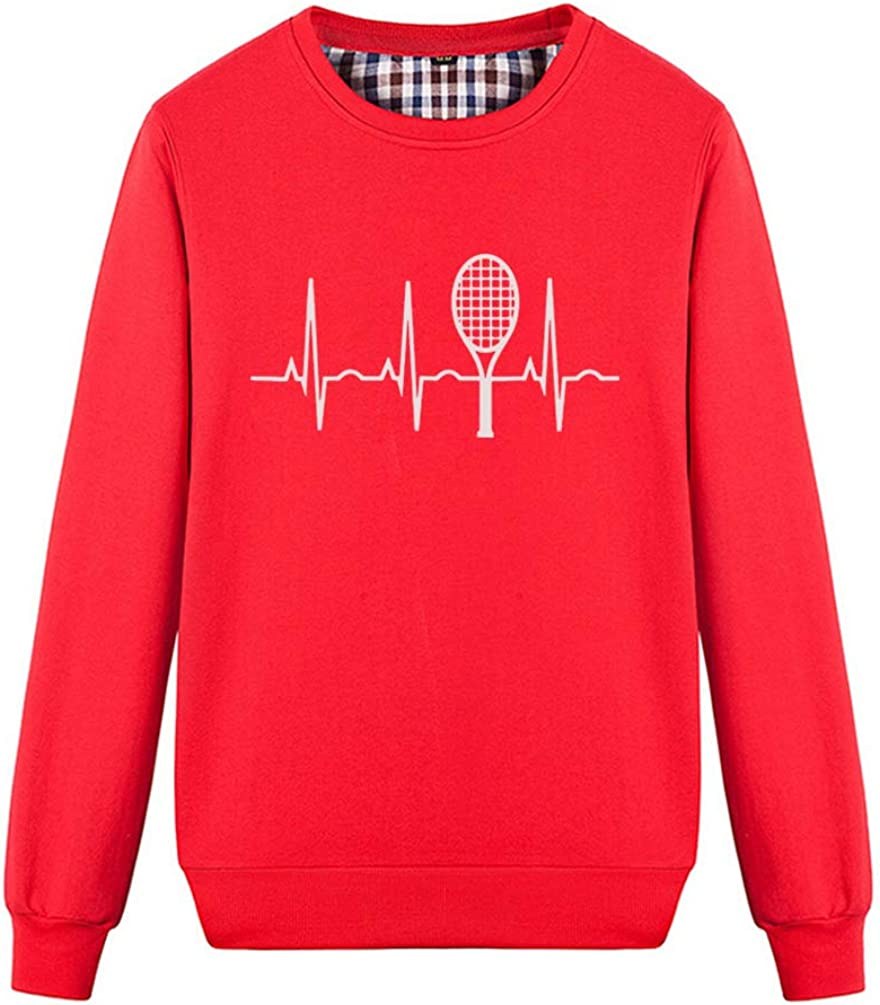 Unisex Tennis Heartbeat Tennis Gift for Players Fans Sweatshirts