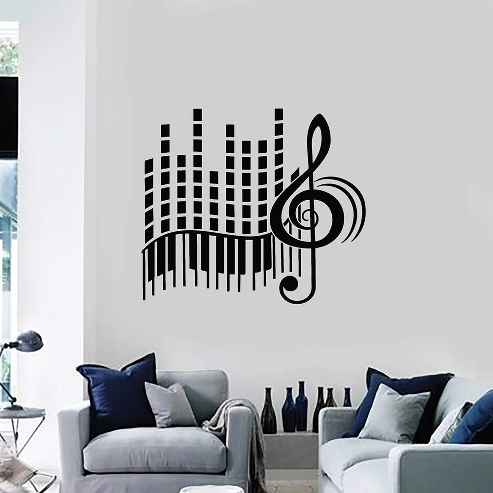 Love Music Vinilo Tatuajes De Pared Sala De Estar Estéreo Clave De ...