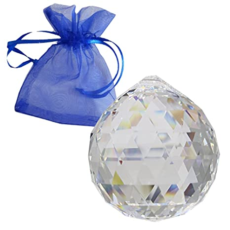 2eb01ee750 Swarovski Crystal Ball Diameter 40 mm with Presentation Pouch as Chandelier  Drops Window Decorations Feng Shui Sun Catcher and Home Accessories Rich ...