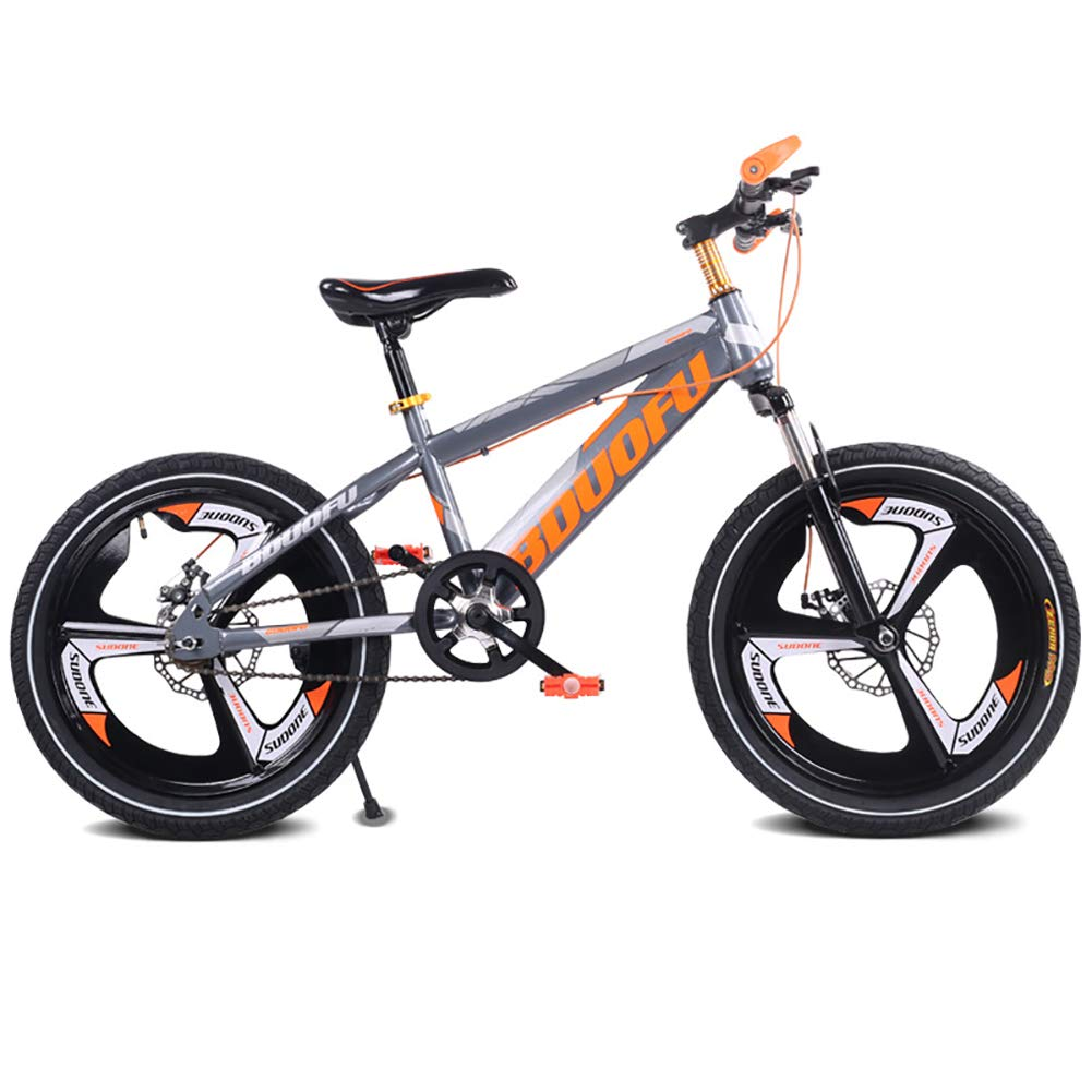 lo último naranja 16 FJ-MC Unisexo Bicicleta de montaña de suspensión Velocidad Velocidad Velocidad única Bicicleta para niños, 12 , 14 , 16 , con Doble Freno de Disco para Estudiante, niño, Ciudad de cercanías,azul,16  bajo precio del 40%