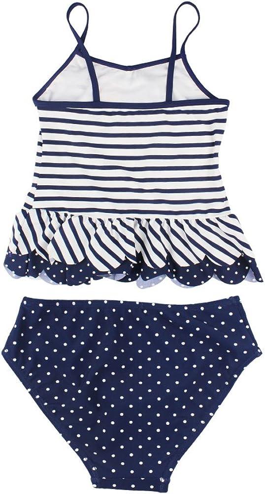ESTAMICO Little Girls Summer Two Piece Tankini Kids Swimsuit Bathing Suit Swimwear