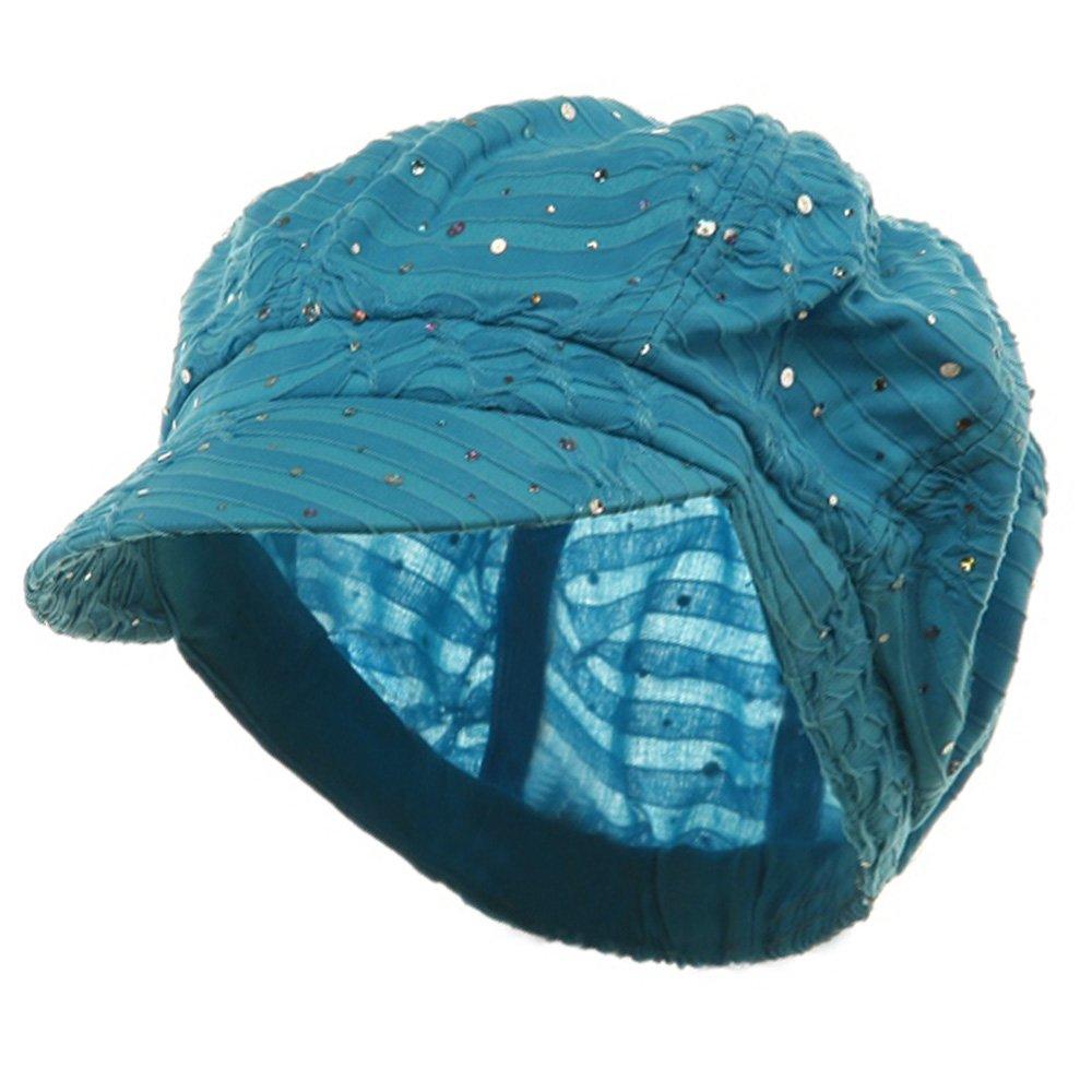 SS/Sophia Glitter Newsboy Cap-Turquoise