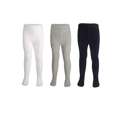 Amazon.com: Pack de 3 medias para bebé, color negro + blanco ...