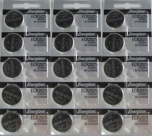 15 Energizer CR2025 Lithium Batteries