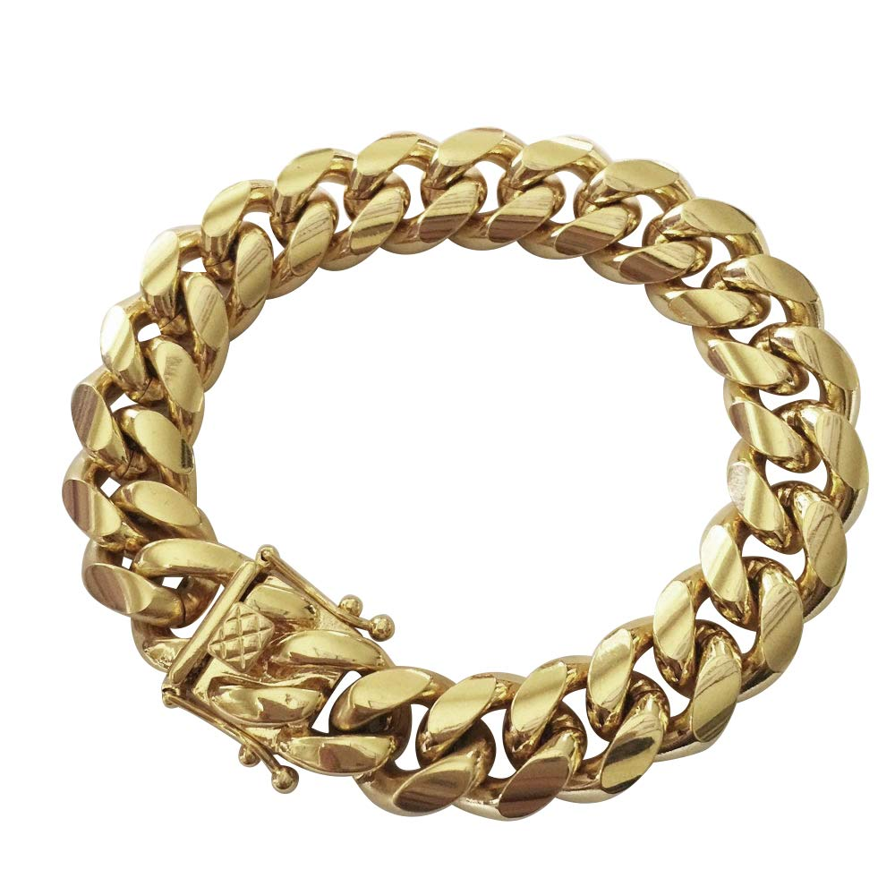 ba1290c1daa74 14 K Miami Cuban Link Solid Gold Chain Top Deals & Lowest Price ...