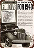 "9"" x 12"" METAL SIGN - 1940 Ford Pickup Trucks - Vintage Look Reproduction"