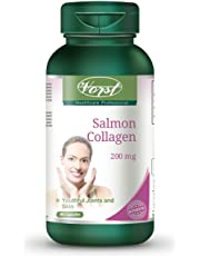 Vorst Salmon Collagen 200mg plus Vitamin C 90 Capsules Type 1 and 3 for Skin Hair Nails Joints Bones Anti-Aging Beauty Collagen Peptides Keto Friendly