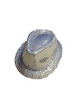 Islander Fashions Adultos Lentejuelas Plateadas Sombrero Superior ...