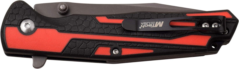 M Tech MT1037RD-BRK Button Lock Black//Red