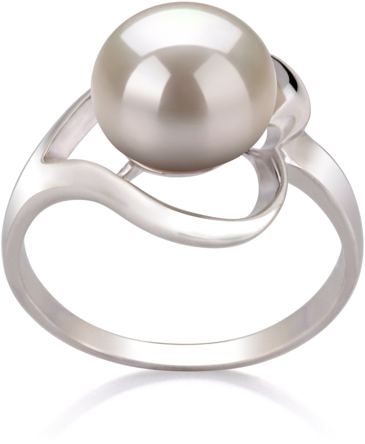 Sadie White 9-10mm AA Quality Freshwater 925 Sterling Silver Cultured Pearl Ring - Size-6