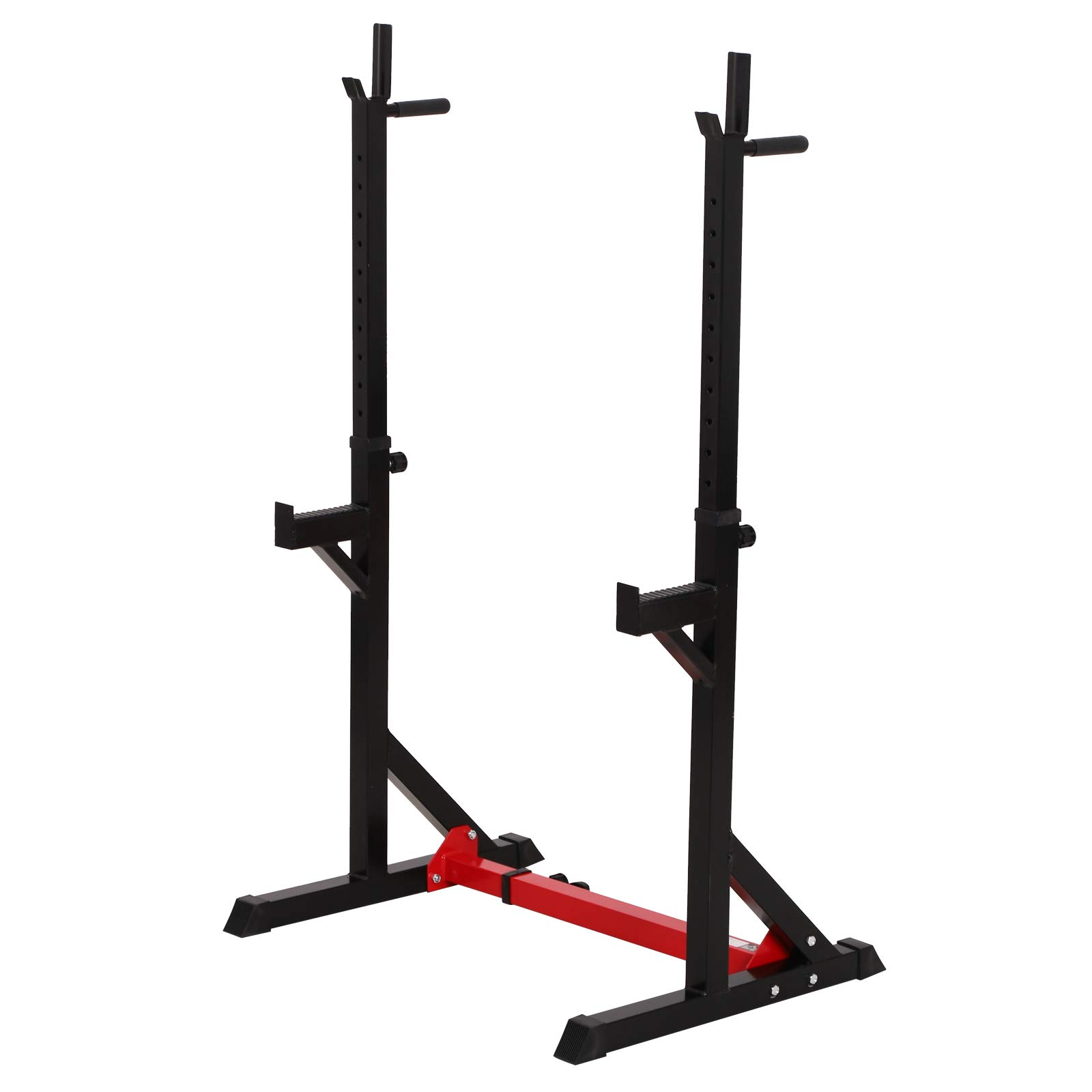 Soozier 2-Piece Pair Steel Height and Base Adjustable Barbell Squat Rack and Bench Press by Soozier