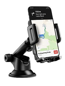 Mpow Soporte Móvil Coche, Soporte Móvil para Coche para Salpicadero/Parabrisas, Ventosa Fuerte, Rotación 360º, para iPhone 11/XR/XS Max/X/8/7/6, ...