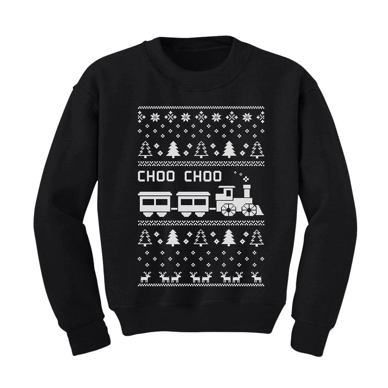 Amazon.com: Choo Choo Train Children's Ugly Christmas Sweater Cute ...