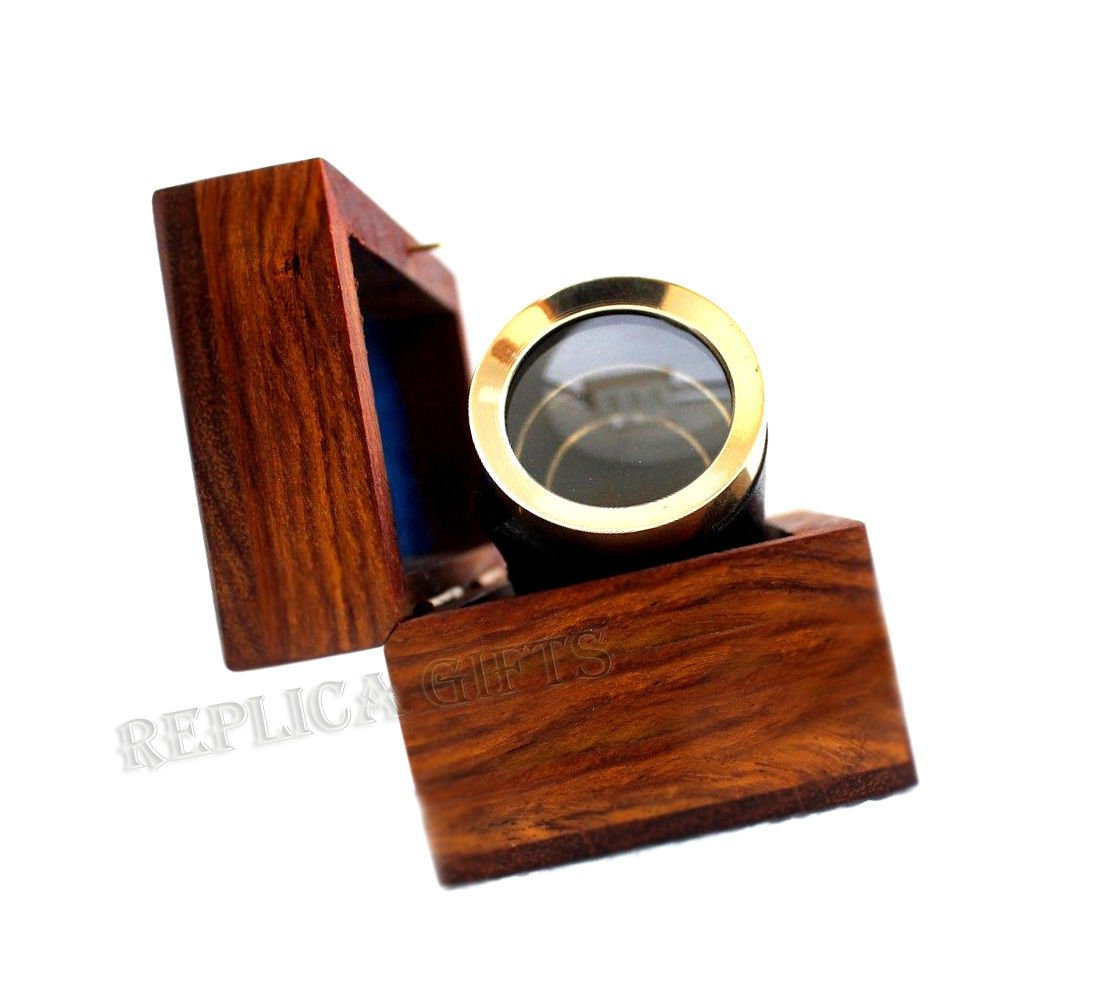 Arsh Nautical Nautical Vintage Maritime Brass 6'' Pirates Spyglass Telescope with Wooden Box D by Arsh Nautical (Image #5)