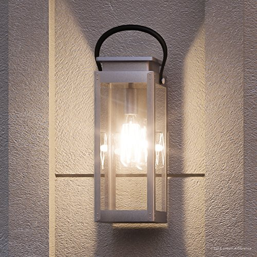 (Luxury Modern Farmhouse Outdoor Wall Light, Medium Size: 19.375