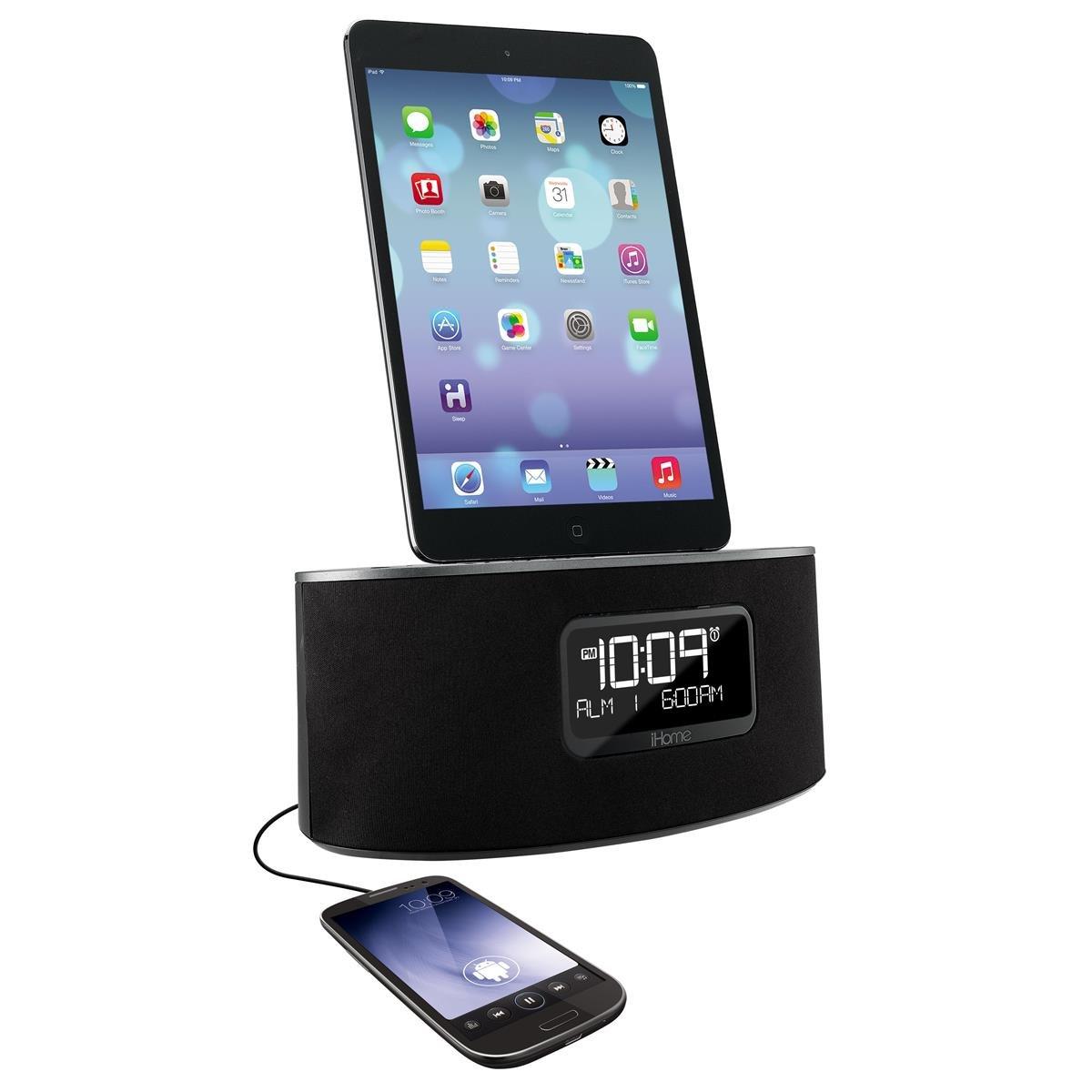 ihome idl46 docking speaker with lightning connector fm clock alarm chargenplay. Black Bedroom Furniture Sets. Home Design Ideas