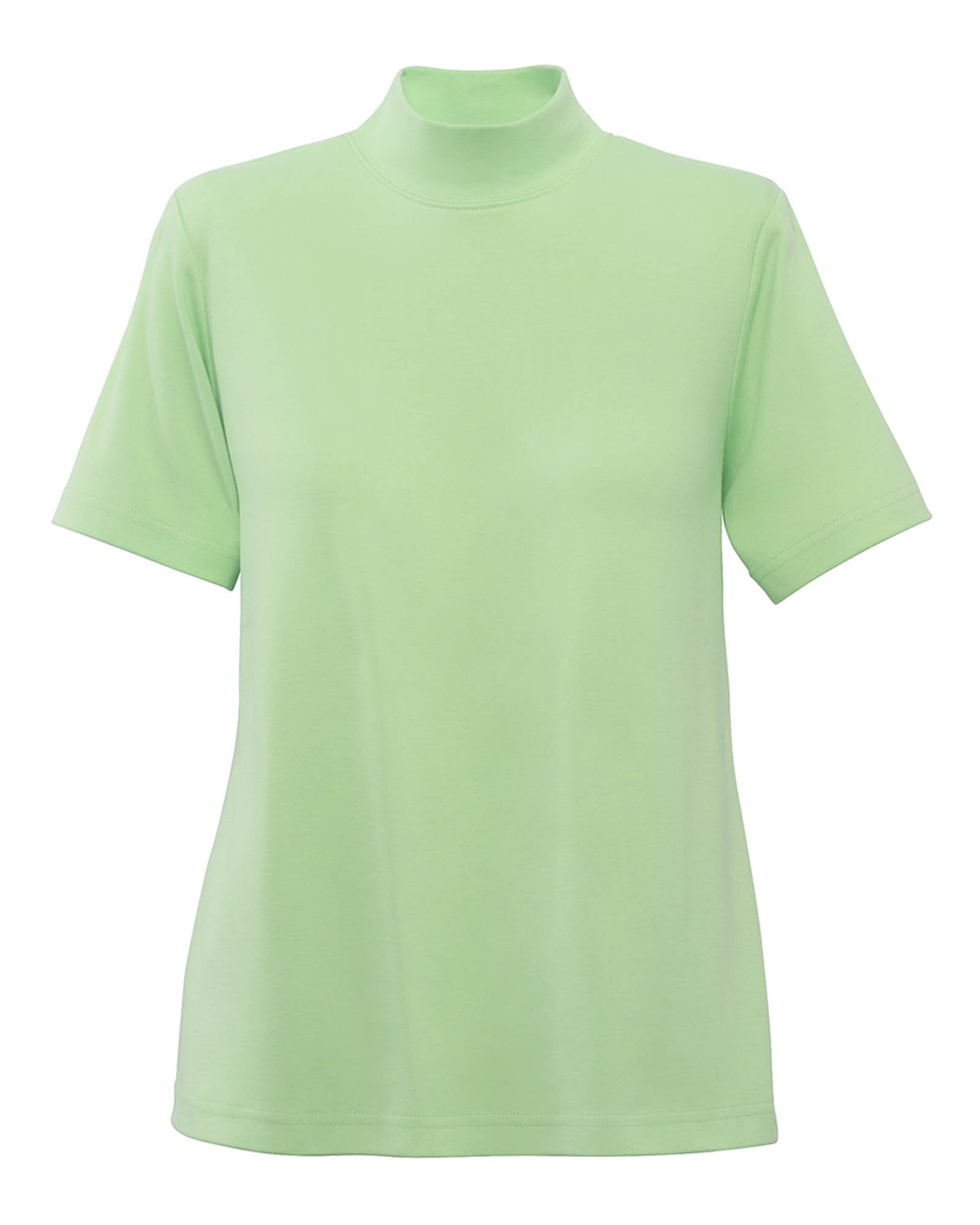 UltraSofts Cotton-Polyester Mock Top, Pistachio, Medium