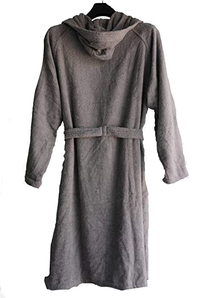 AVIONI Loomkart Cotton Bath Robes with Hood Zip-Packing (Grey, Standard Size)
