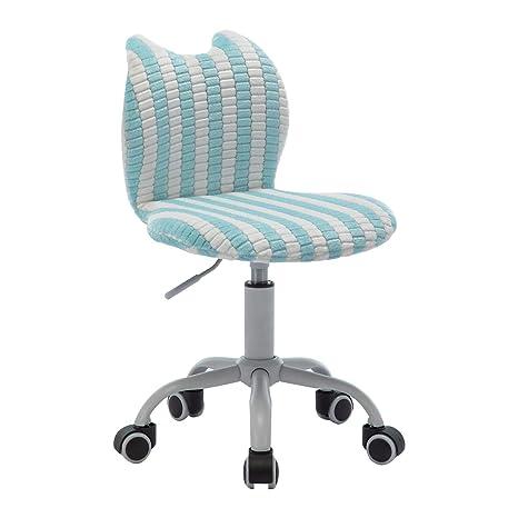 Prime Swivel Ergonomic Kids Desk Chair Cute Cat Chirldren Study Chair Downy Animal Bluewhite Machost Co Dining Chair Design Ideas Machostcouk