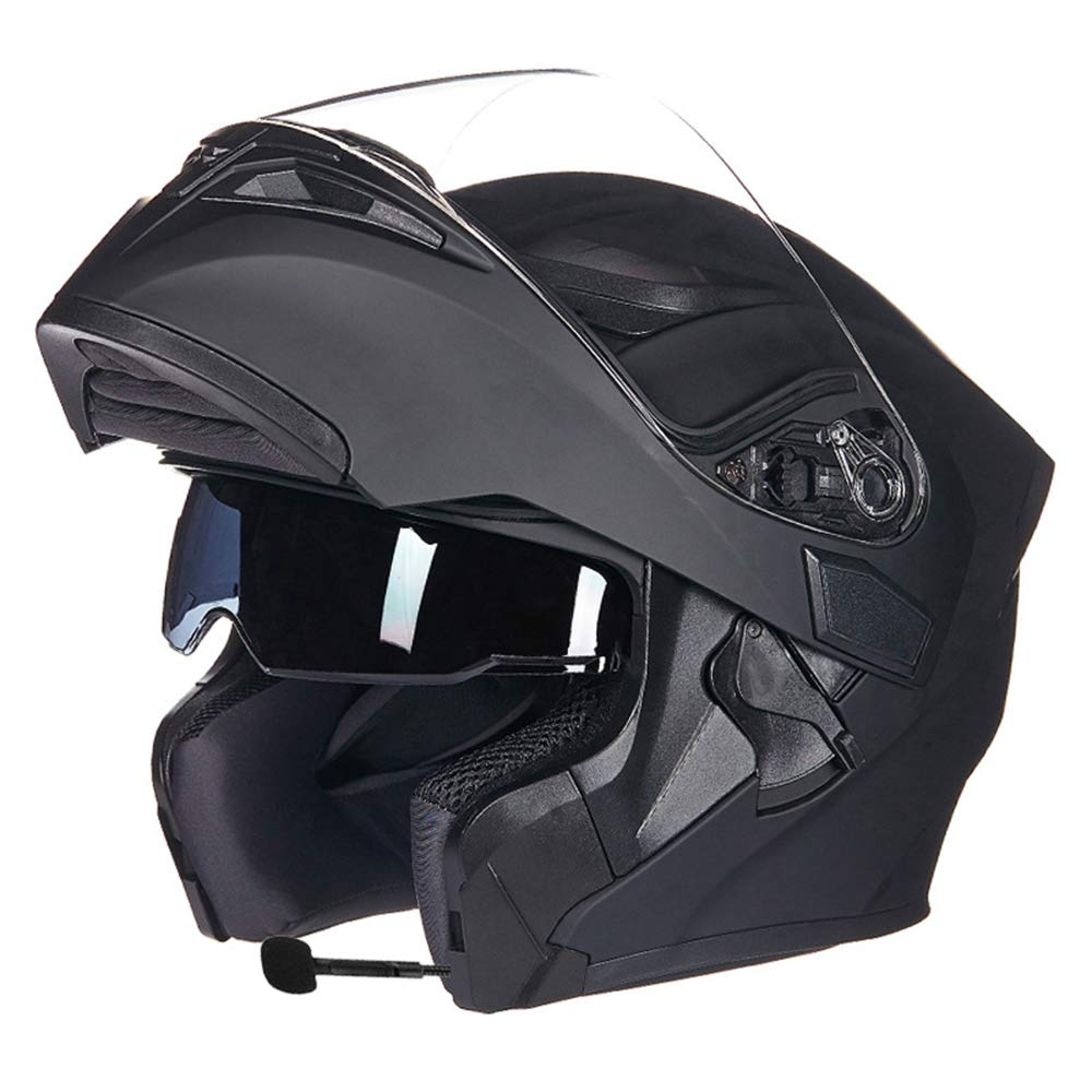 F M MJW bleutooth Intégré Modulaire Flip Up Full Face Moto Casque Sun Shield Mp3 Intercom