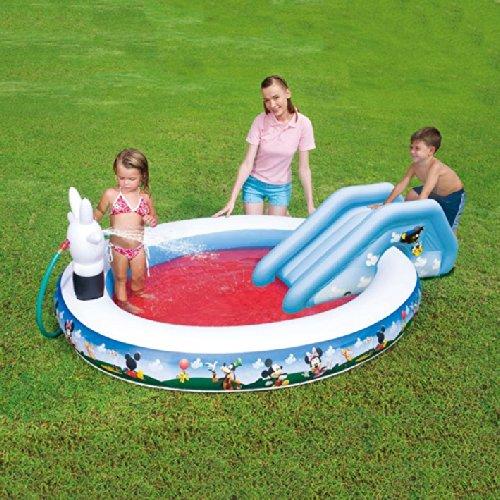 Piscina Redonda hinchable para niños Mickey Ratón: Amazon.es: Jardín