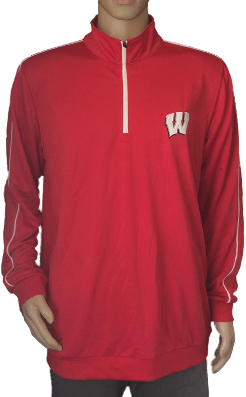 Colosseum Wisconsin Badgers Youth Boys 1//4 Zip 99 Yards Pullover