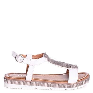 Linzi Damen Sandalen Beige Beige, Beige - Beige - Größe: 37.5