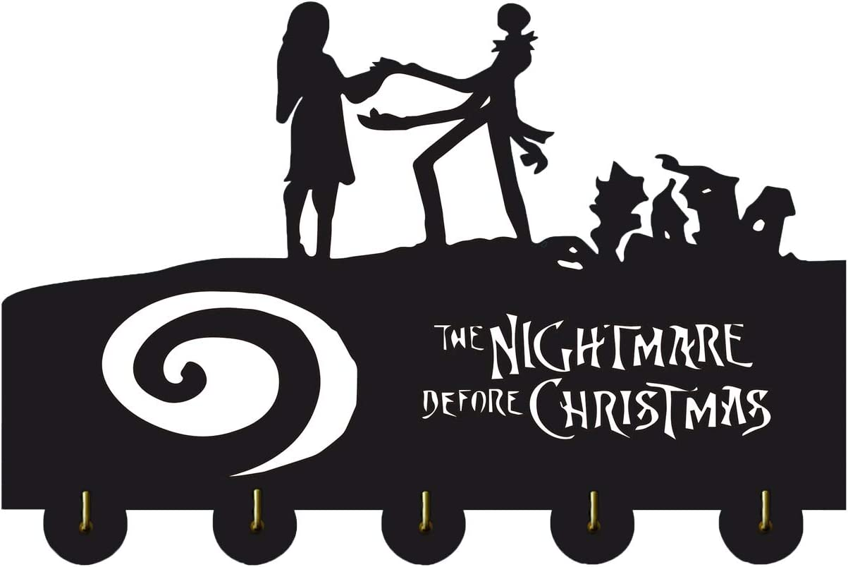 The Nightmare Before Christmas Key Hooks-Wall Hooks Heavy Duty 20LB(Max),Wall Décor,Wood Coat Hooks, Key Holder,Key Hanger for Wall?Entryway and Kitchen