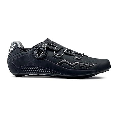Northwave Flash 2 della strada del carbonio scarpe bianco-nero, Taglia:gr. 45