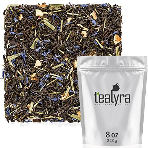 (Tealyra - Earl Grey Premium - Best Classic Black Loose Leaf Tea - Fresh Award Winning Tea - Medium Caffeine - All Natural - 220g (8-ounce))