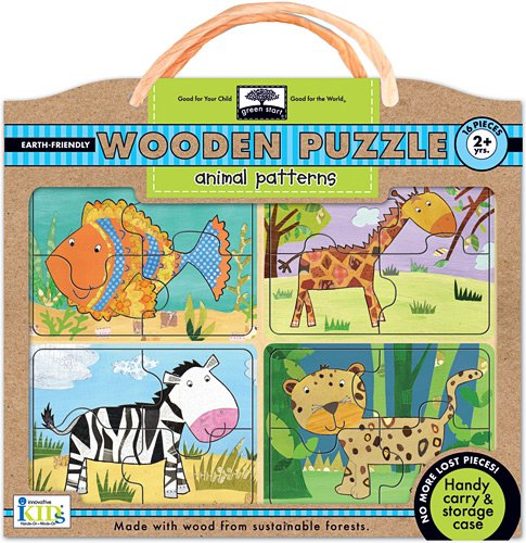 Green Start Wooden Puzzles - Innovative Kids Green Start Wooden Puzzles: Animal Patterns (2Yrs+) Puzzle