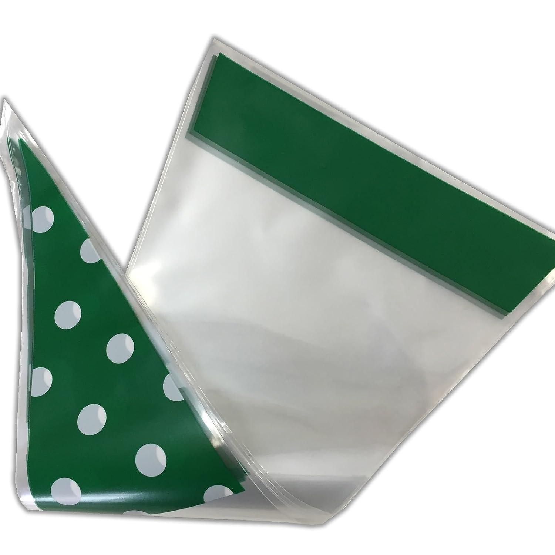 POLKA DOT SPOT Cone GREEN Cello Party Sweet Empty Bag /& twist ties