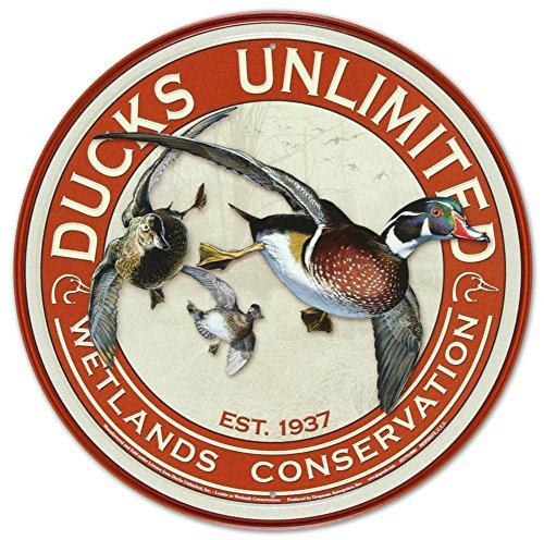 Ducks Unlimited Round Retro Vintage Tin Sign 12 x -