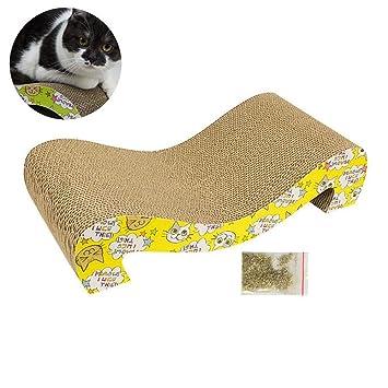 FOONEE Rascador de Gatos de cartón, Recambio para rascador de Gatos - Durable Gato rascador salón Multifuncional rascador de Gatos: Amazon.es: Hogar