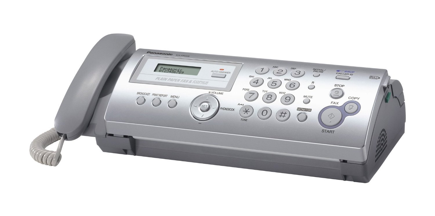 Panasonic Printers Supplies Kx Fp205 Thermal Transfer Fax Copier Corded No Answer Machine