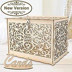 Aytai DIY Rustic Wedding Card Box with L...