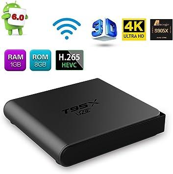 Android TV Box T95 X Smart TV Box U2 C 1 GB RAM y 8 GB ROM HD 4 K Amlogic S905 X Quad Core 3d WiFi Mini TV Box: Amazon.es: Electrónica