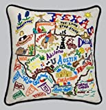 Catstudio Hand-Embroidered Pillow - Texas by Catstudio