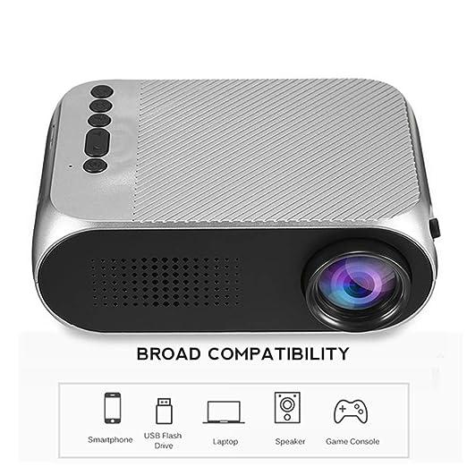 TONGTONG Mini proyector LED proyector 500 LM Audio HDMI USB Mini ...
