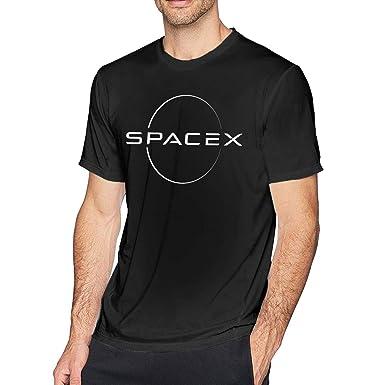 SOTTK Camisetas y Tops Hombre Polos y Camisas, Mens Cool SPACEX ...