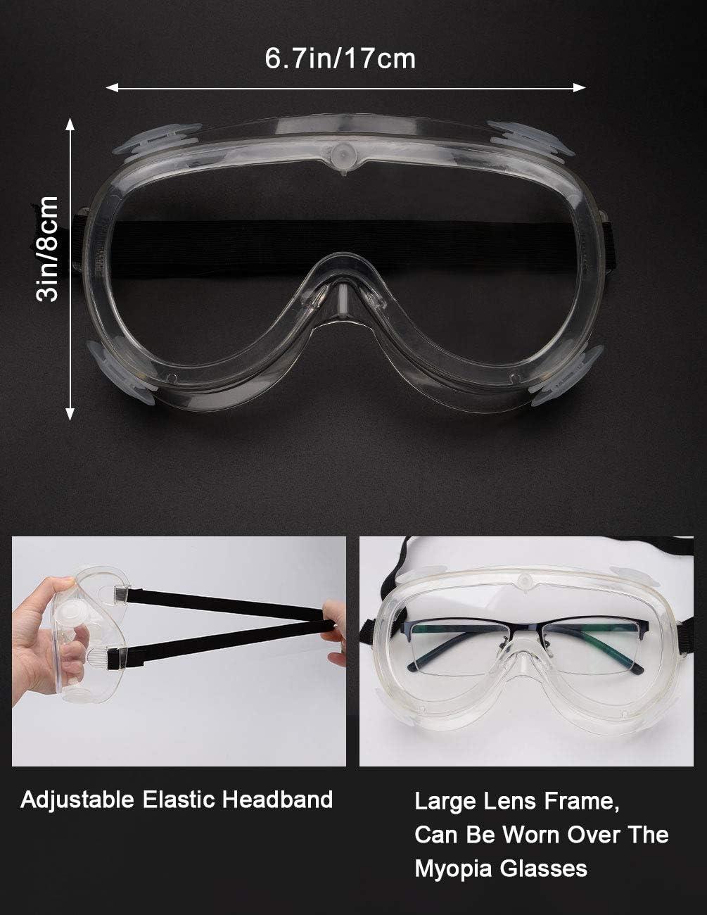 Mujeres y J/óvenes Maylisacc 2 Pack Gafas Protectoras Trabajo Gafas de Seguridad Transparentes Ajustables Protecci/ón Antivaho Ligero para Hombres