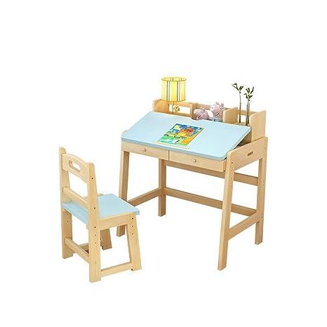 L.Z Juego de Mesa y sillas de Madera para niños, Incluye ...