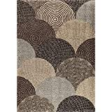 "Cheap Orian Rugs Wild Weave Oystershell Seal Area Rug, 7'10"" x 10'10"", Seal Black"